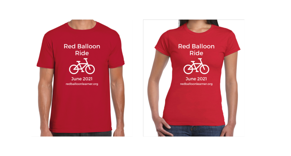 The Red Balloon Ride t-shirt design